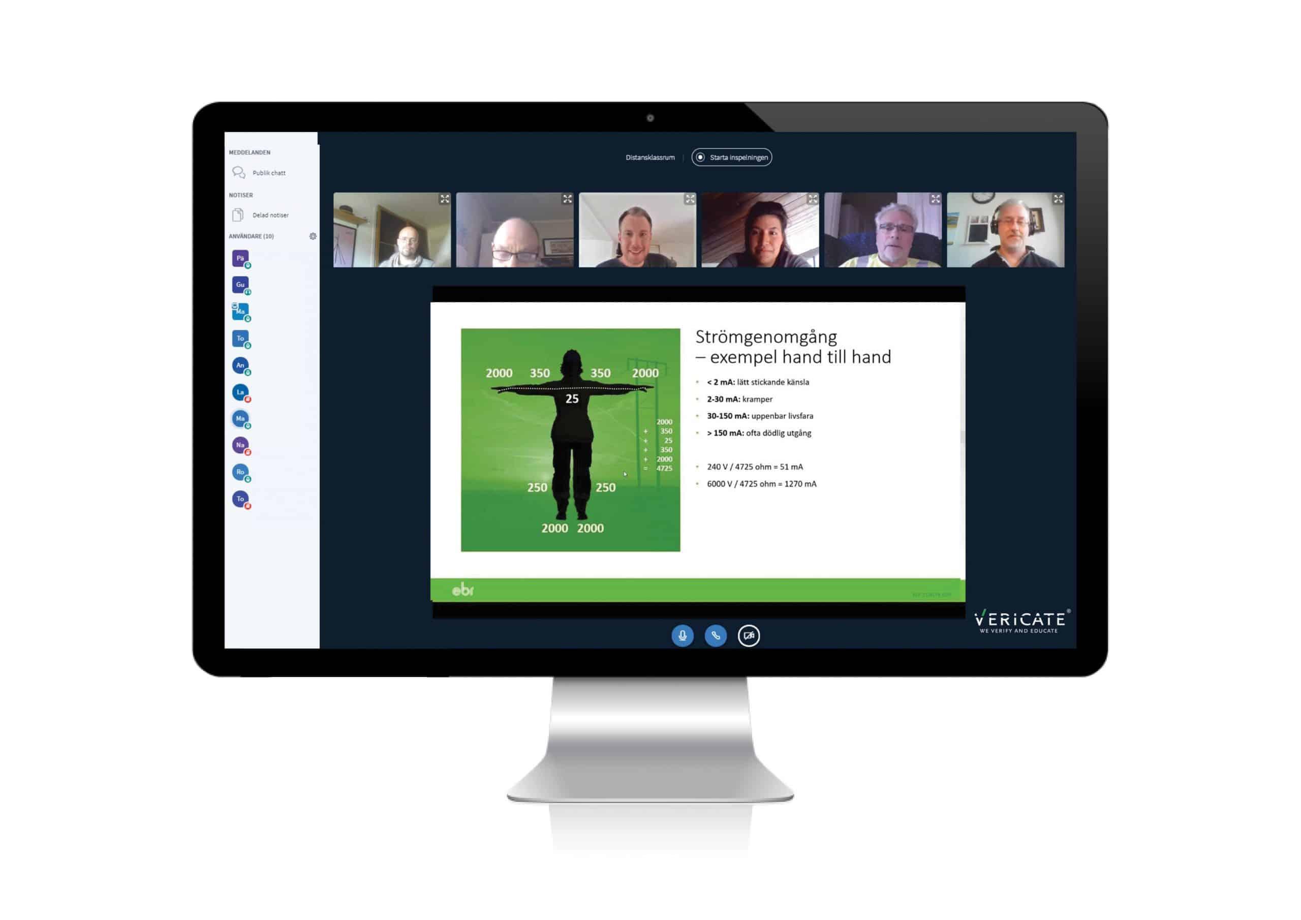 elsäkerhetsutbildning ESA online Vericate